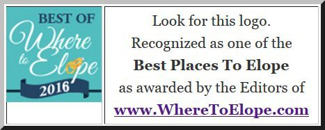 Look for the 2016 Best Places To Elope Badge